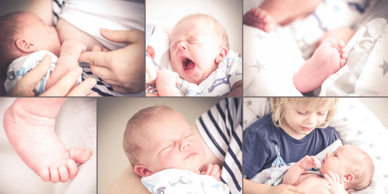 Neugeboren, Baby und Familie