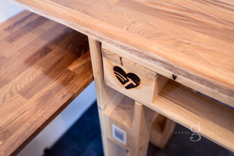 Büro Schreibtisch aus Paletten