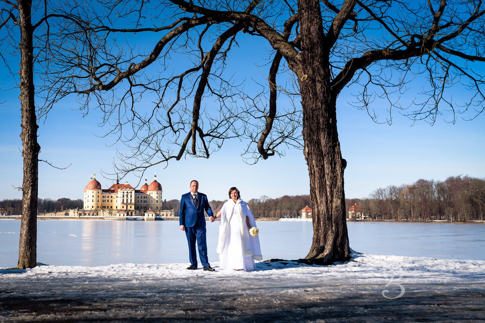 Grahlfoto Hochzeitsfotografie Hochzeitsreportage Moritzburg Leuchtturm Fasanenschlösschen mit Cordula Maria Grahl