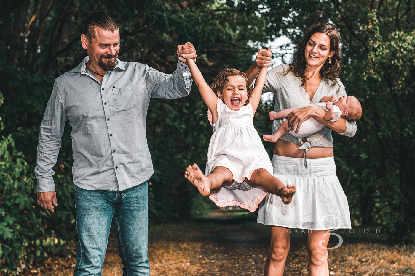 Grahlfoto Familienshooting Fotobeispiel mit Filter