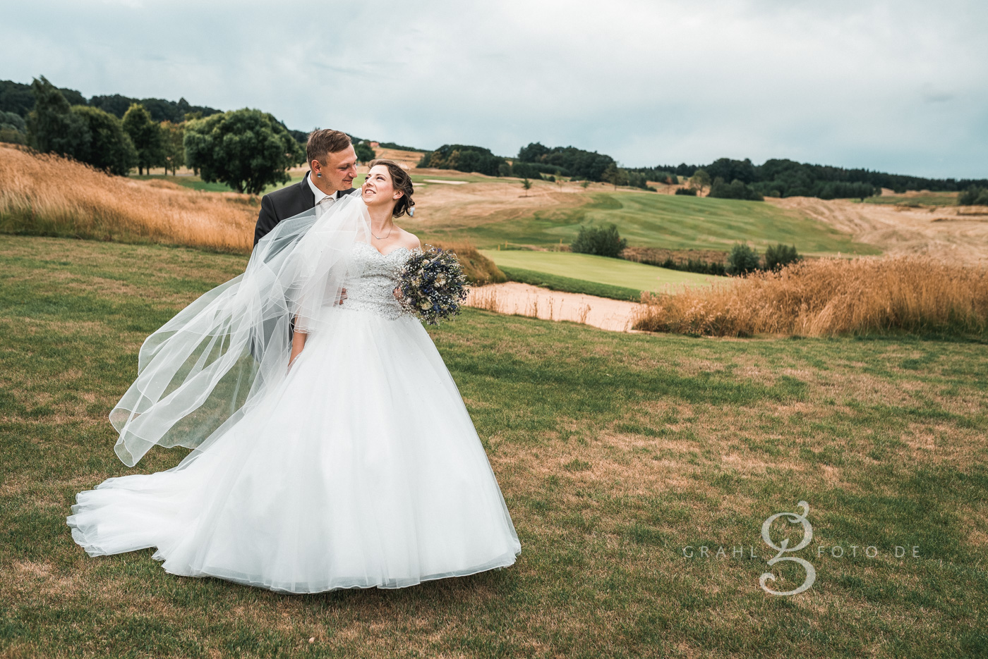 Grahlfoto Hochzeit Fotobeispiel in Schwarz-Weiß