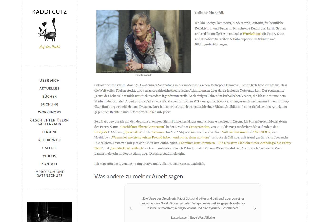 Kaddi Cutz Poetry Slammerin