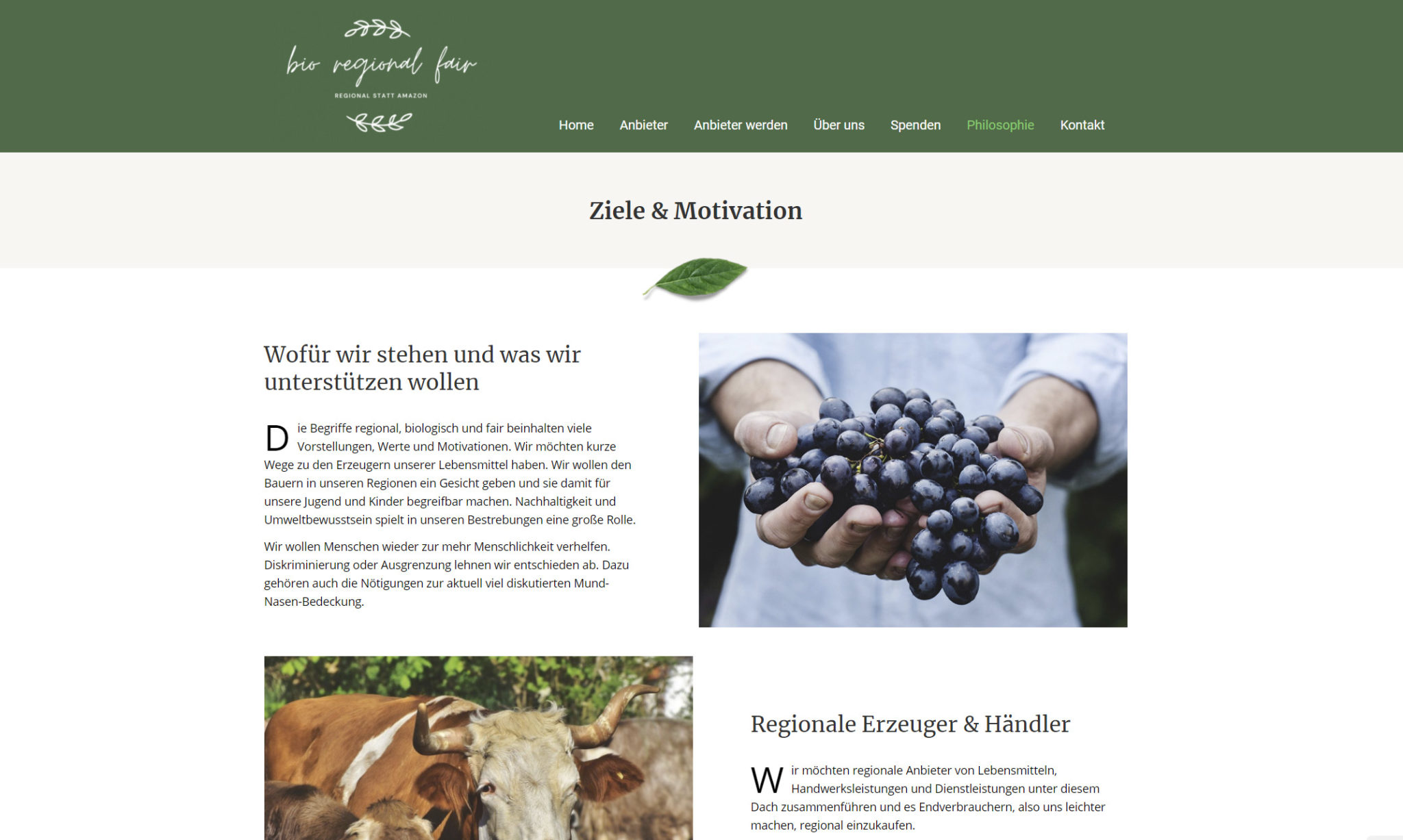 bio regional fair verbraucher Website